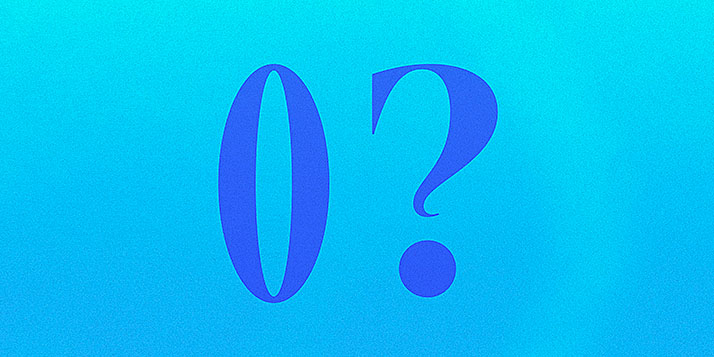 """Blue background that says """"O?"""""""