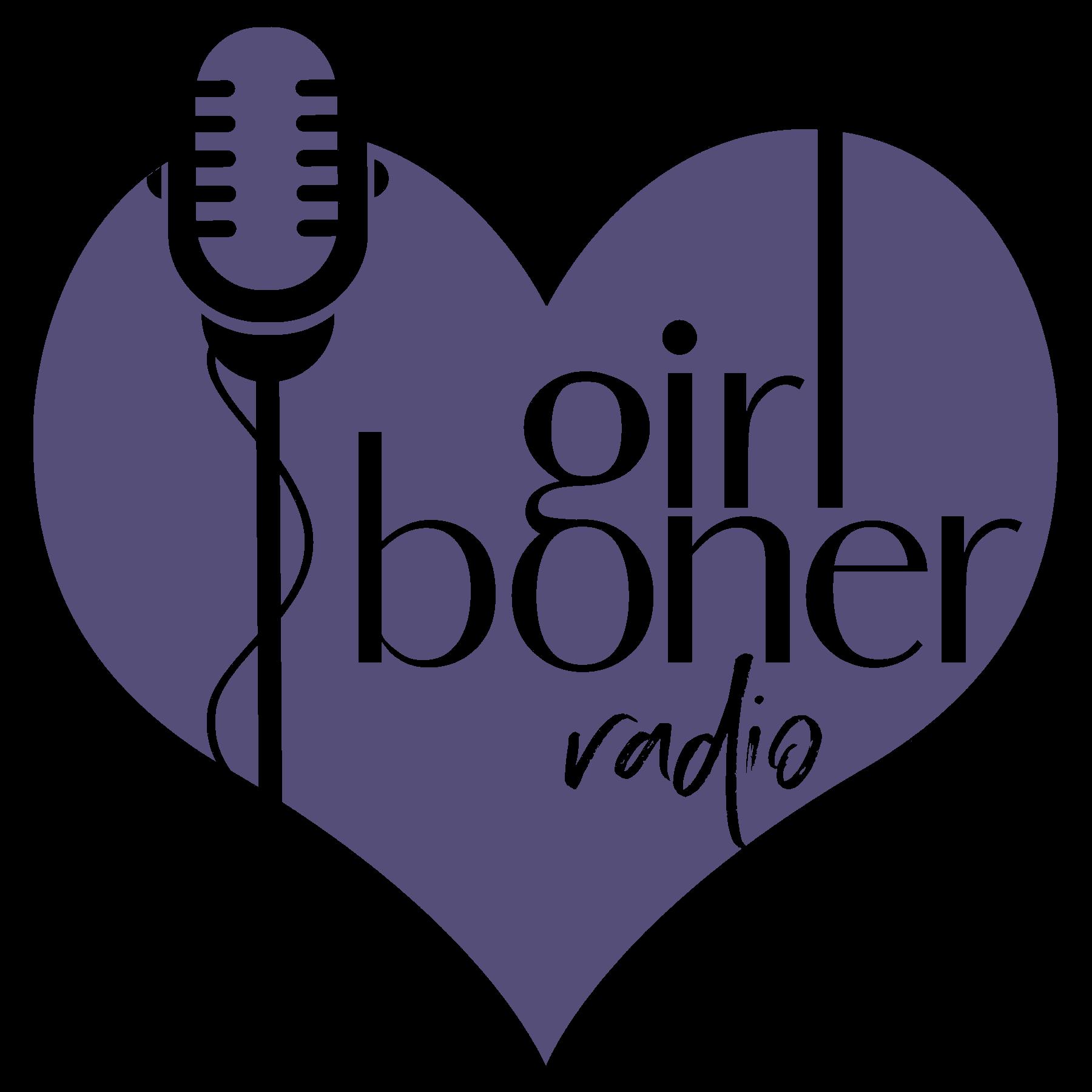 Girl Boner Radio Logo in Purple